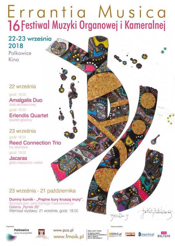 16. edycja Festiwalu Muzyki Organowej iKameralnej