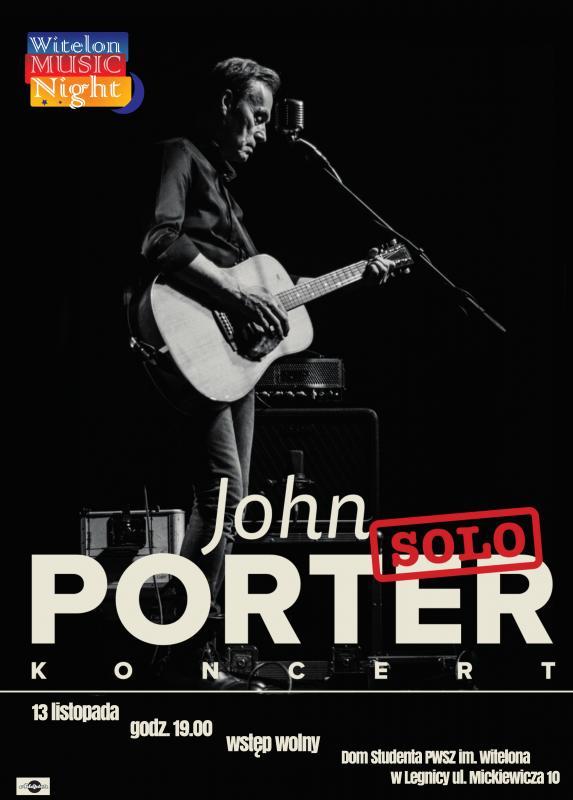 John Porter otworzy 11 sezon Witelon Music Night